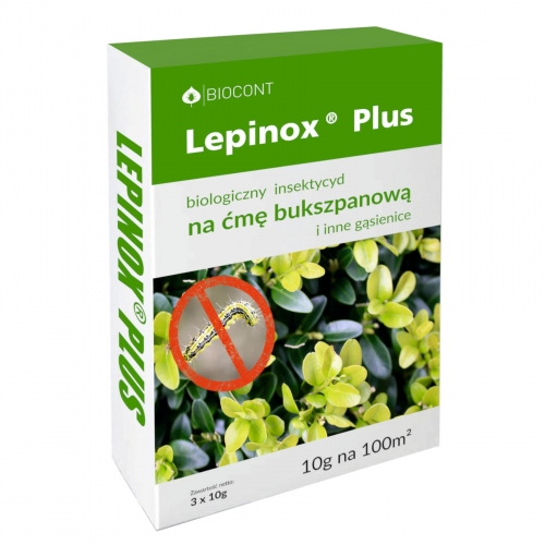 Lepinox Plus na ćmę bukszpanową 3 x 10 g - Biocont